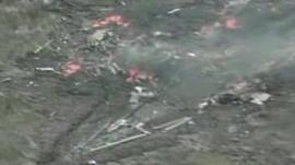 Drone crash site
