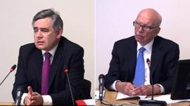 Gordon Brown and Rupert Murdoch