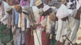 A Sufi ceremony in Somalia