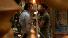 Men talk in Cairo souk