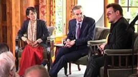 Aung San Suu Kyi and Bono