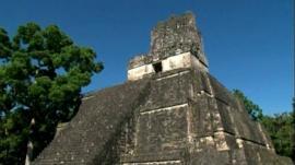 A Mayan pyramid