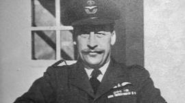 Lancaster Bomber pilot Sqn Ldr John Mitchell