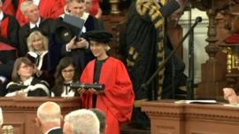 Aung Sun Suu Kyi receives her honorary doctorate