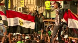 People on streets in Egypt