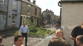 Damaged house in Oldham