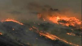 Wildfire in Colorado Springs
