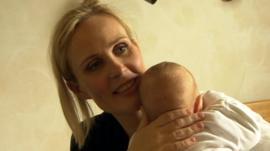 Thora Arnorsdottir and baby