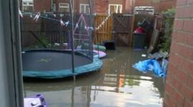 Flooded back garden