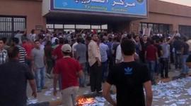 Benghazi electoral authority headquarters