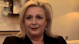 Suha Arafat, widow of the late Palestinian President, Yasser Arafat