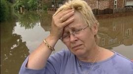 Flooding victim