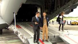David Cameron at Farnborough Air Show