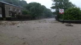 The scene near Hebden Bridge station