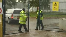 Security staff on duty at Hadleigh