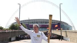 Gordon Banks at Wembley stadium