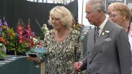 Prince of Wales and Duchess of Cornwall at Sandringham Flower Show
