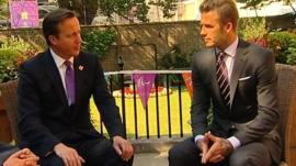 David Cameron and David Beckham