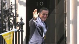 Mitt Romney at Downing Street