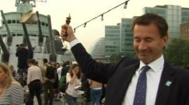 Jeremy Hunt with broken bell