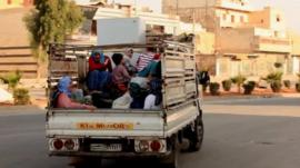 Refugees leaving Aleppo