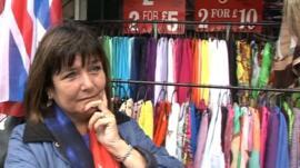 Central London stall holder Vicky Munro