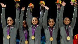 USA win gymnastics team gold at London 2012
