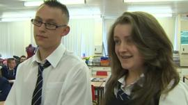 Students receive their Scottish Higher results
