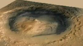 Picture from Mars taken by Nasa's robot rover, Curiosity.