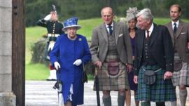 Duke of Edinburgh with the Queen