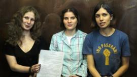 Nadezhda Tolokonnikova, Yekaterina Samutsevich, Maria Alekhina