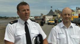 Supt Keith McCorbrey (left)