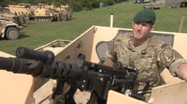 40 Commando training on the Somerset Levels