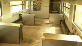 Modified Eurostar train for Paralympians