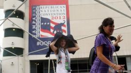 Women arrive at Republican National Convention