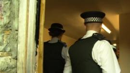 Police on a raid