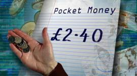 Pocket money graphic