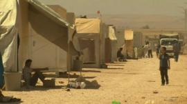 Syrian refugee camp in northern Jordan
