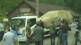 Car taken away from scene of shootings in the French Alps