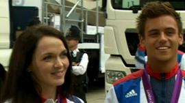 Victoria Pendleton and Tom Daley