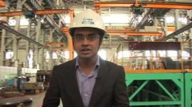 Sameer Hashmi in factory in Gujarat
