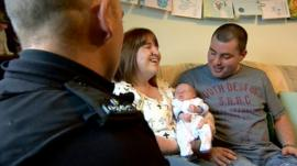 Police officer, Denise Middler, Owen and Darren Farquharson