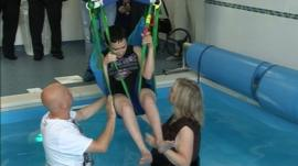 A new hydrotherapy pool opens at Teesside Ability Support Centre in Middlesbrough