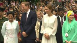 The Duke and Duchess of Cambridge on tour in Malaysia