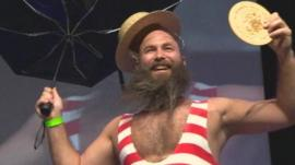 A winner at the Beard and Moustache Championships