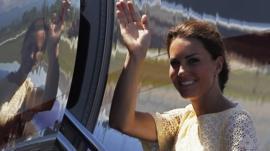 Duchess of Cambridge at Honiara airport on 18/9/12