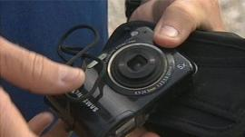 Digital camera found on the sea bed off Cornwall