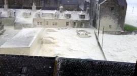 Sand-infused foam in Footdee
