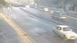CCTV showing moment of attack