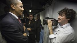 President Obama with Arun Chaudhary